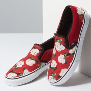Vans romantic floral slip on